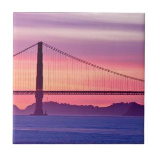 Golden Gate Bridge at Sunset Tile