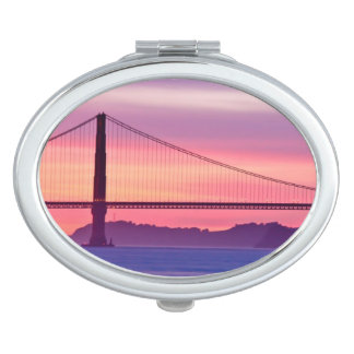 Golden Gate Bridge at Sunset Travel Mirrors