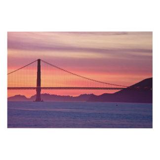 Golden Gate Bridge at Sunset Wood Print