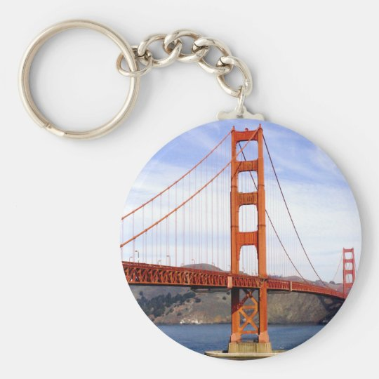 Golden Gate Bridge Basic Round Button Key Ring