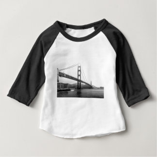 Golden Gate Bridge Black And White Baby T-Shirt