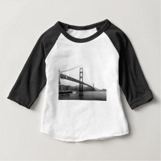 Golden Gate Bridge Black And White Baby T-Shirt