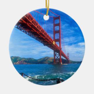 Golden Gate Bridge, California Round Ceramic Decoration
