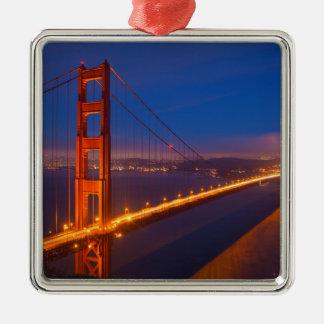 Golden Gate Bridge, California Silver-Colored Square Decoration