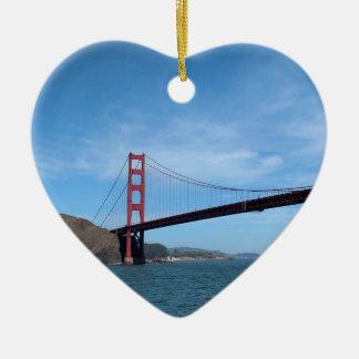 Golden Gate Bridge Ceramic Heart Decoration
