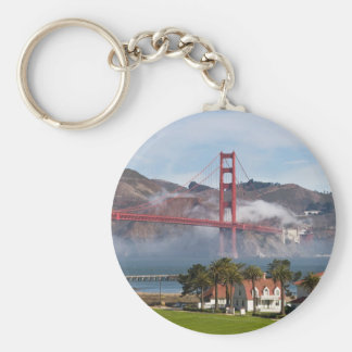 Golden Gate Bridge Coast Guard Station Basic Round Button Key Ring