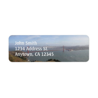 Golden Gate Bridge custom return address labels