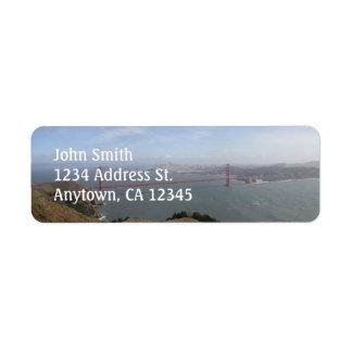 Golden Gate Bridge custom return address labels