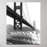 Golden Gate Bridge Dancers Poster