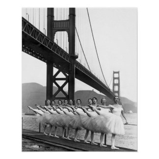 Golden Gate Bridge Dancers Poster