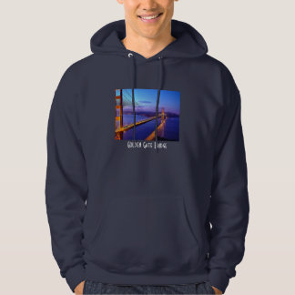 Golden Gate Bridge Evening View Hooded Sweater Hooded Pullovers