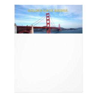 Golden Gate Bridge 21.5 Cm X 28 Cm Flyer
