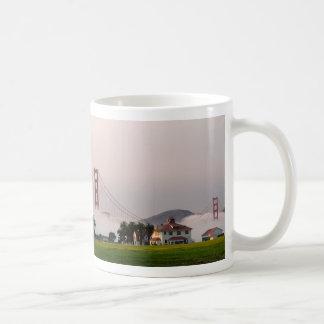 Golden Gate Bridge Fog Basic White Mug