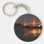 Golden Gate bridge from Barker Beach Basic Round Button Key Ring
