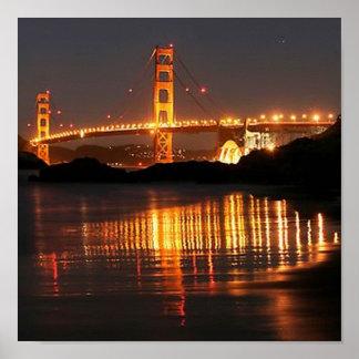 Golden Gate bridge from Barker Beach Poster