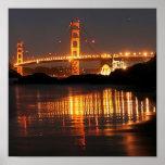 Golden Gate bridge from Barker Beach Print