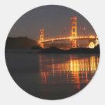 Golden Gate bridge from Barker Beach Round Sticker