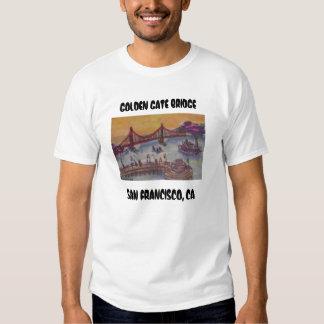 golden gate bridge from fishermans wf, GOLDEN G... T-shirts