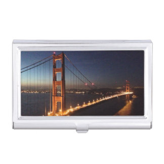 Golden Gate Bridge from Marin headlands Business Card Holder