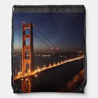 Golden Gate Bridge from Marin headlands Drawstring Bag