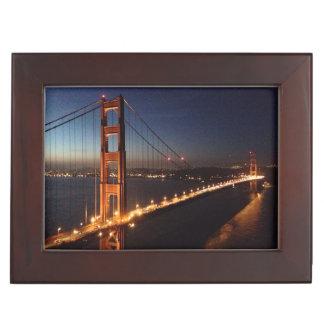 Golden Gate Bridge from Marin headlands Keepsake Box