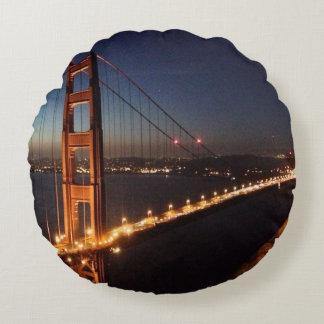 Golden Gate Bridge from Marin headlands Round Cushion