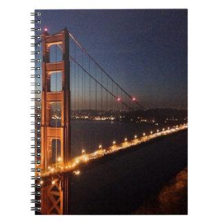 Golden Gate Bridge from Marin headlands Spiral Note Book