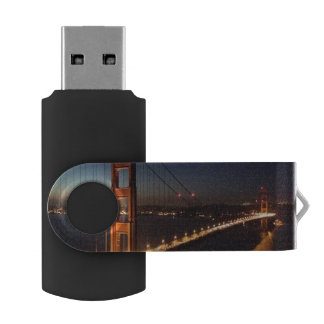 Golden Gate Bridge from Marin headlands Swivel USB 2.0 Flash Drive