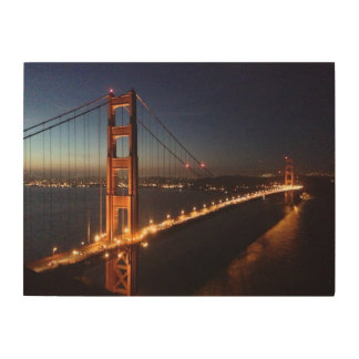 Golden Gate Bridge from Marin headlands Wood Print