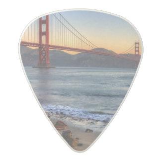 Golden Gate Bridge from San Francisco bay trail. Acetal Guitar Pick