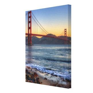 Golden Gate Bridge from San Francisco bay trail. Canvas Print