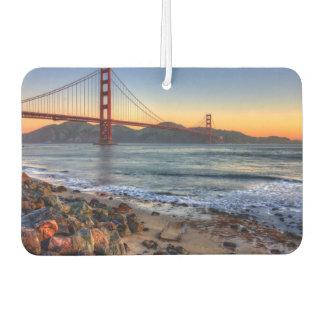 Golden Gate Bridge from San Francisco bay trail. Car Air Freshener