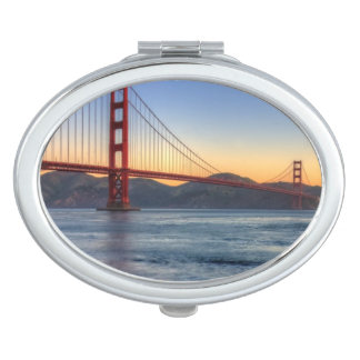 Golden Gate Bridge from San Francisco bay trail. Compact Mirror