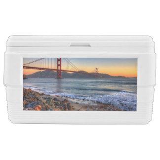 Golden Gate Bridge from San Francisco bay trail. Cooler