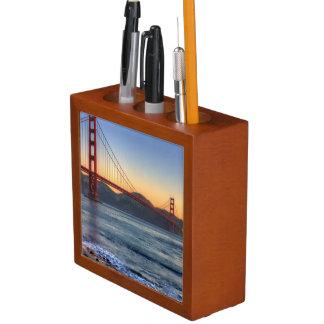 Golden Gate Bridge from San Francisco bay trail. Desk Organiser
