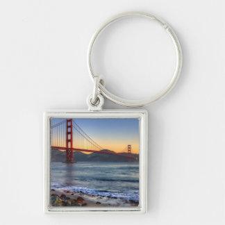 Golden Gate Bridge from San Francisco bay trail Keychains