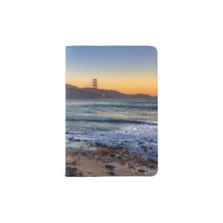 Golden Gate Bridge from San Francisco bay trail. Passport Holder