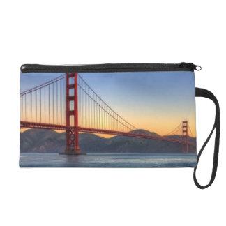 Golden Gate Bridge from San Francisco bay trail. Wristlet