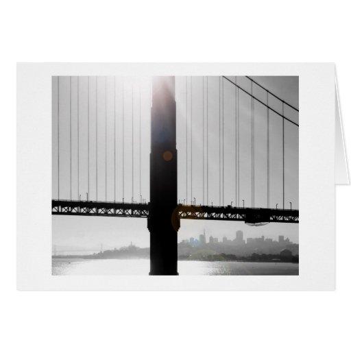 Golden Gate Bridge Greeting Card (Black & White)