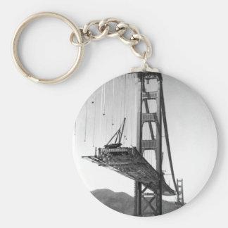 Golden Gate Bridge I Basic Round Button Key Ring
