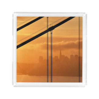 Golden Gate Bridge in front of the San Francisco Acrylic Tray