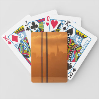 Golden Gate Bridge in front of the San Francisco Bicycle Playing Cards