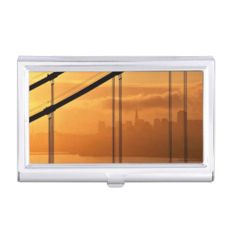 Golden Gate Bridge in front of the San Francisco Business Card Holder