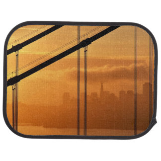 Golden Gate Bridge in front of the San Francisco Car Mat