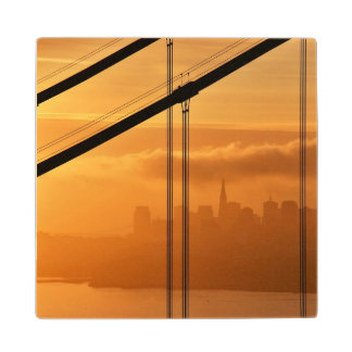 Golden Gate Bridge in front of the San Francisco Maple Wood Coaster