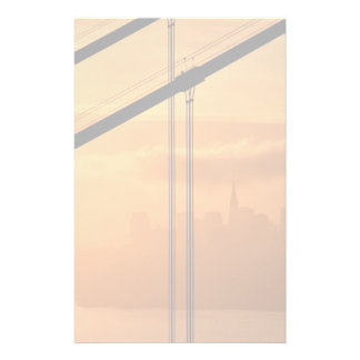 Golden Gate Bridge in front of the San Francisco Personalised Stationery