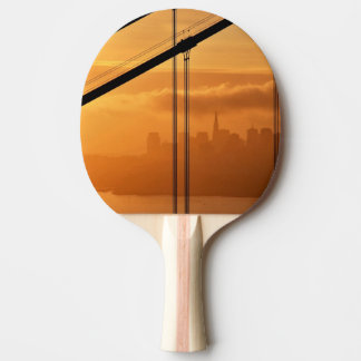 Golden Gate Bridge in front of the San Francisco Ping Pong Paddle