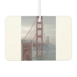 Golden gate bridge in mist. car air freshener