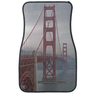 Golden gate bridge in mist. car mat