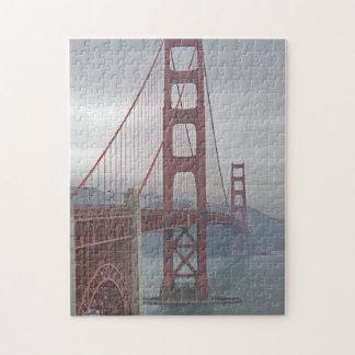 Golden gate bridge in mist. jigsaw puzzle